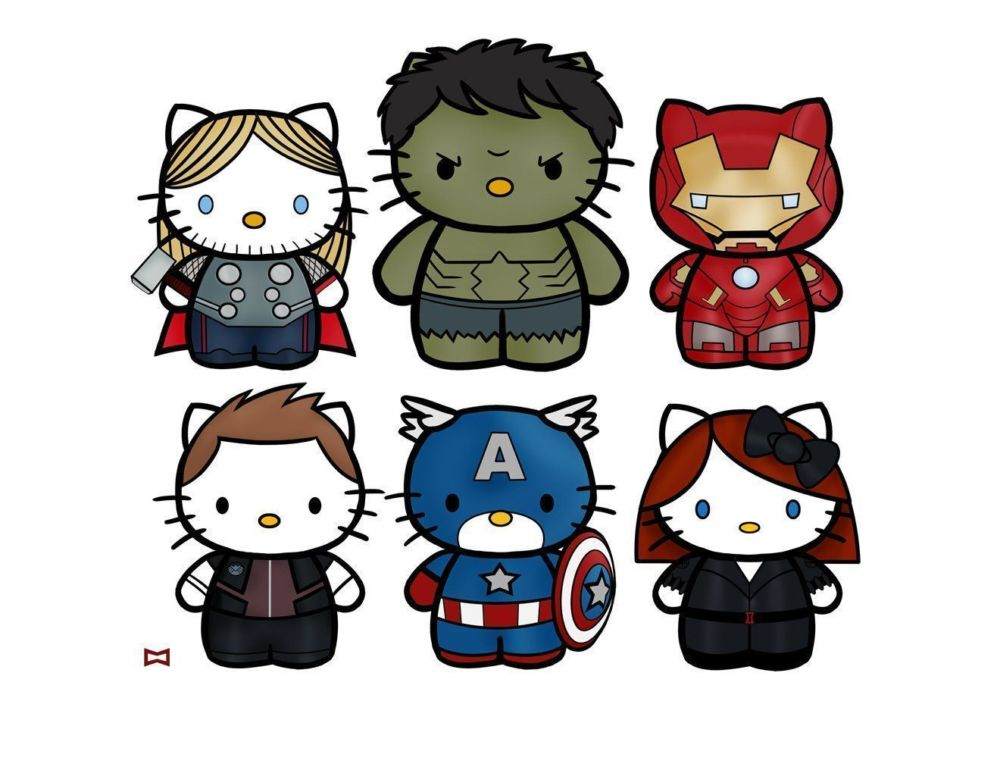 Super Vilains tremblez : voici les Hello Kitty Avengers
